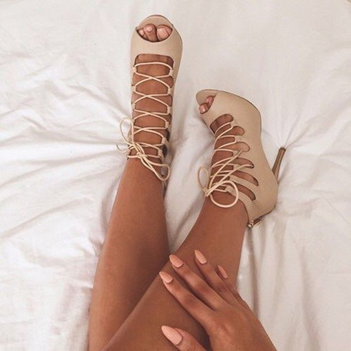 Ankle Strap Stiletto Heel Open Toe Women's Sandals