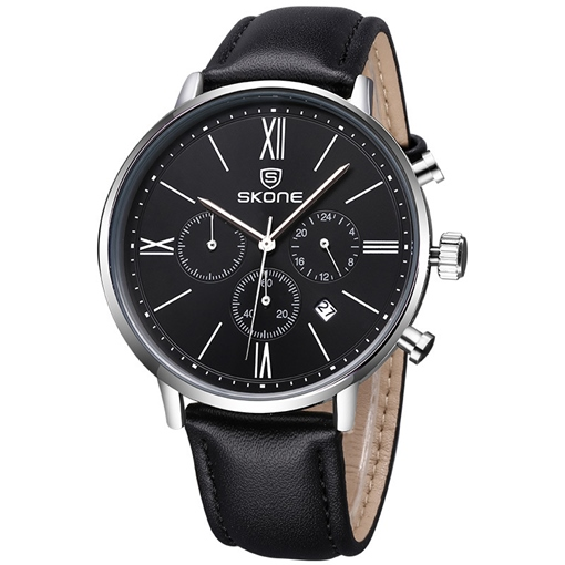 Multifunction Three Eyes Dial Men's Quartz Watch