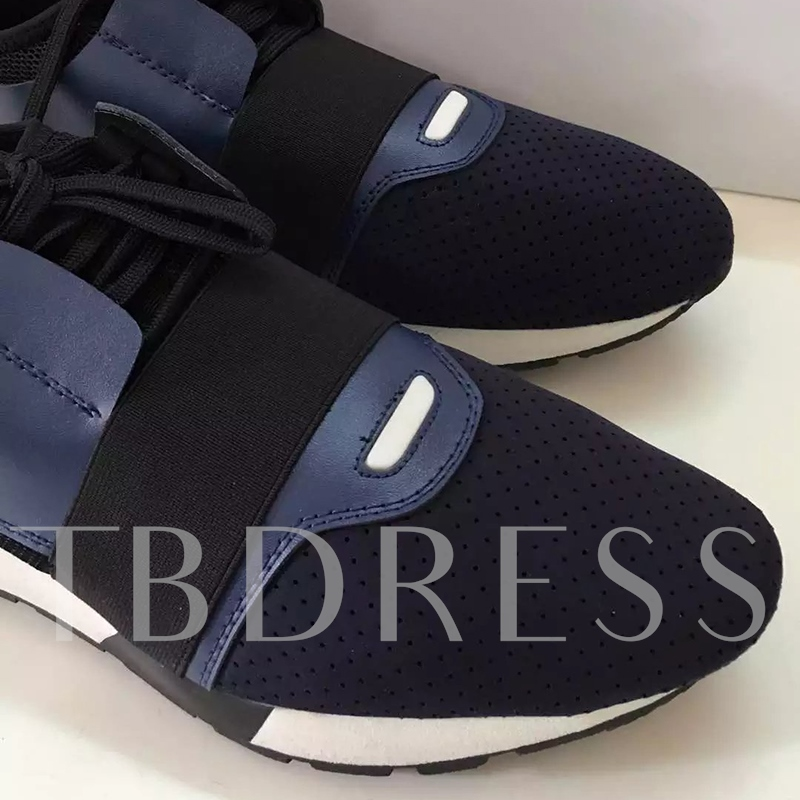 Lace-Up Low-Cut Upper Color Block Men's Sneakers