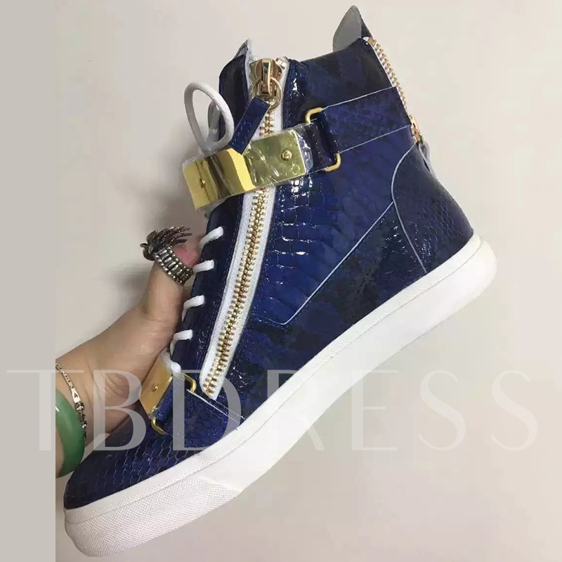 High-Cut Upper Zipper Skater Shoes