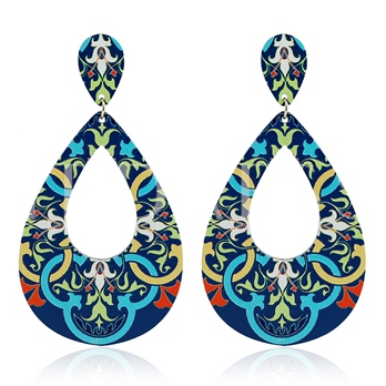 Retro Water Drop Shaped Paster Earrings