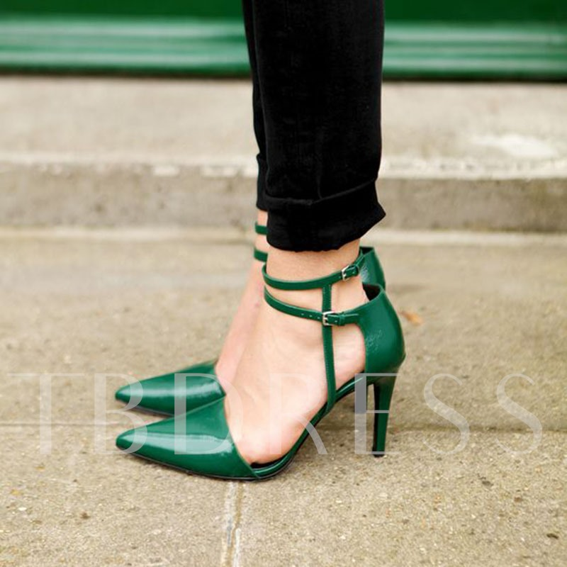 Deep Green Pointed Toe Stiletto Heels