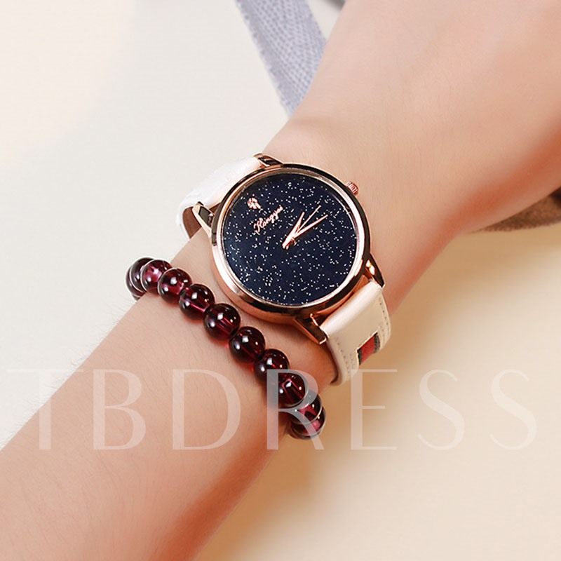 Vogue Round Starry Sky Surface Women's Watch