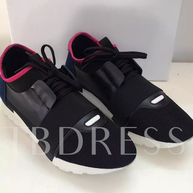 Lace-Up Low-Cut Upper Round Toe Men's Sneakers