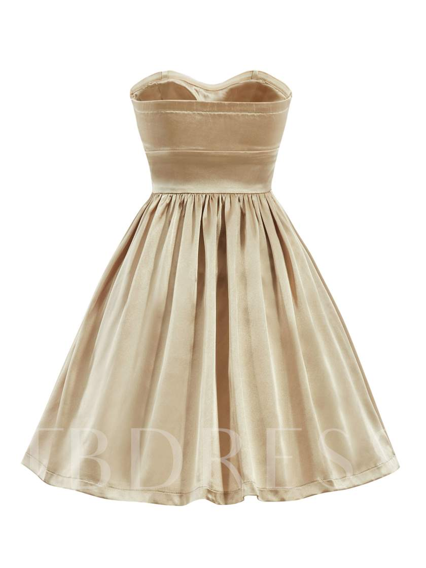 A-Line Sweetheart Beading Draped Ruched Homecoming Dress