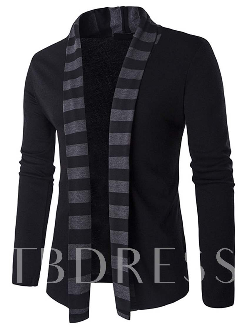 Printed Plain Slim Fit Fashion Men's Cardigan Sweater