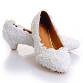 Beads Awl Heel Wedding Shoes