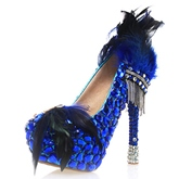 Feather Ultra-High Heel Wedding Shoes