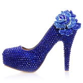 Rhinestone Ultra-High Heel Appliques Women's Wedding Shoes