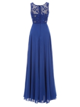 Straps Appliques Pearls Beading Prom Dress
