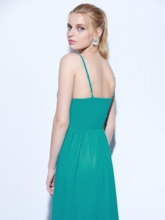 Spaghetti Straps A-Line Appliques Evening Dress