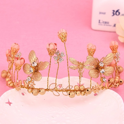 Golden Butterfly Diamante Wedding Hairpin