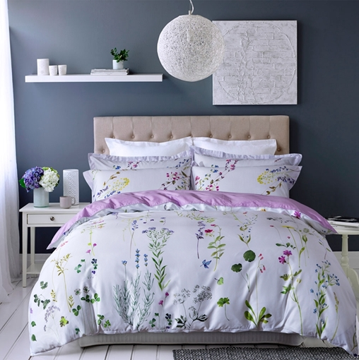 Plant Floral Duvet Cover Set Four-Piece Bedding Set