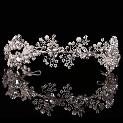 Branch Design with Rhinestone Wedding Tiara