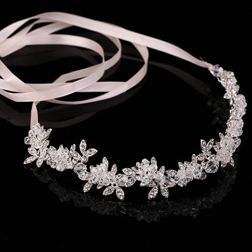 Bright White Rhinestone Wedding Tiara