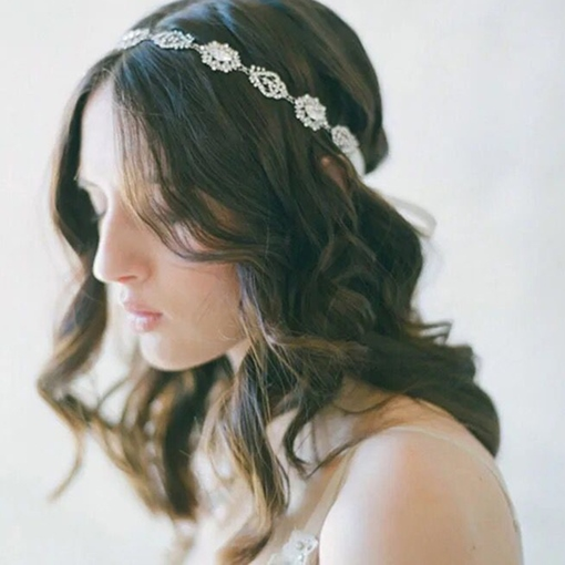 Pearls Inlaid Alloy with Rhinestone Wedding Tiara