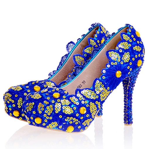 Sequins Ultra-High Heel Wedding Shoes