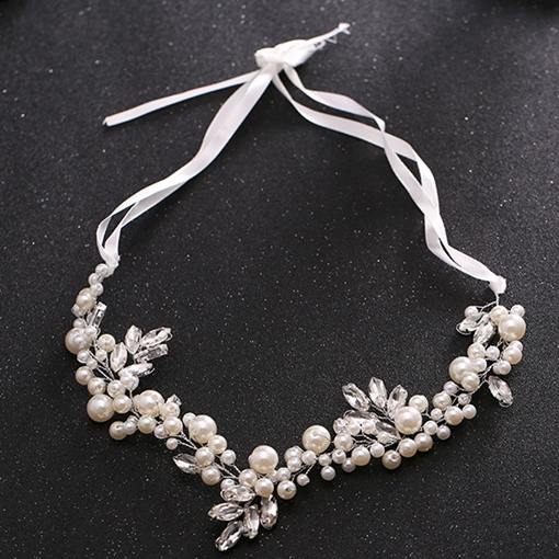 Pearls and Rhinestone Embellished Wedding Tiara