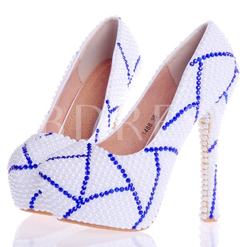 Beads Ultra-High Heel Rhinestone Women's Wedding Shoes
