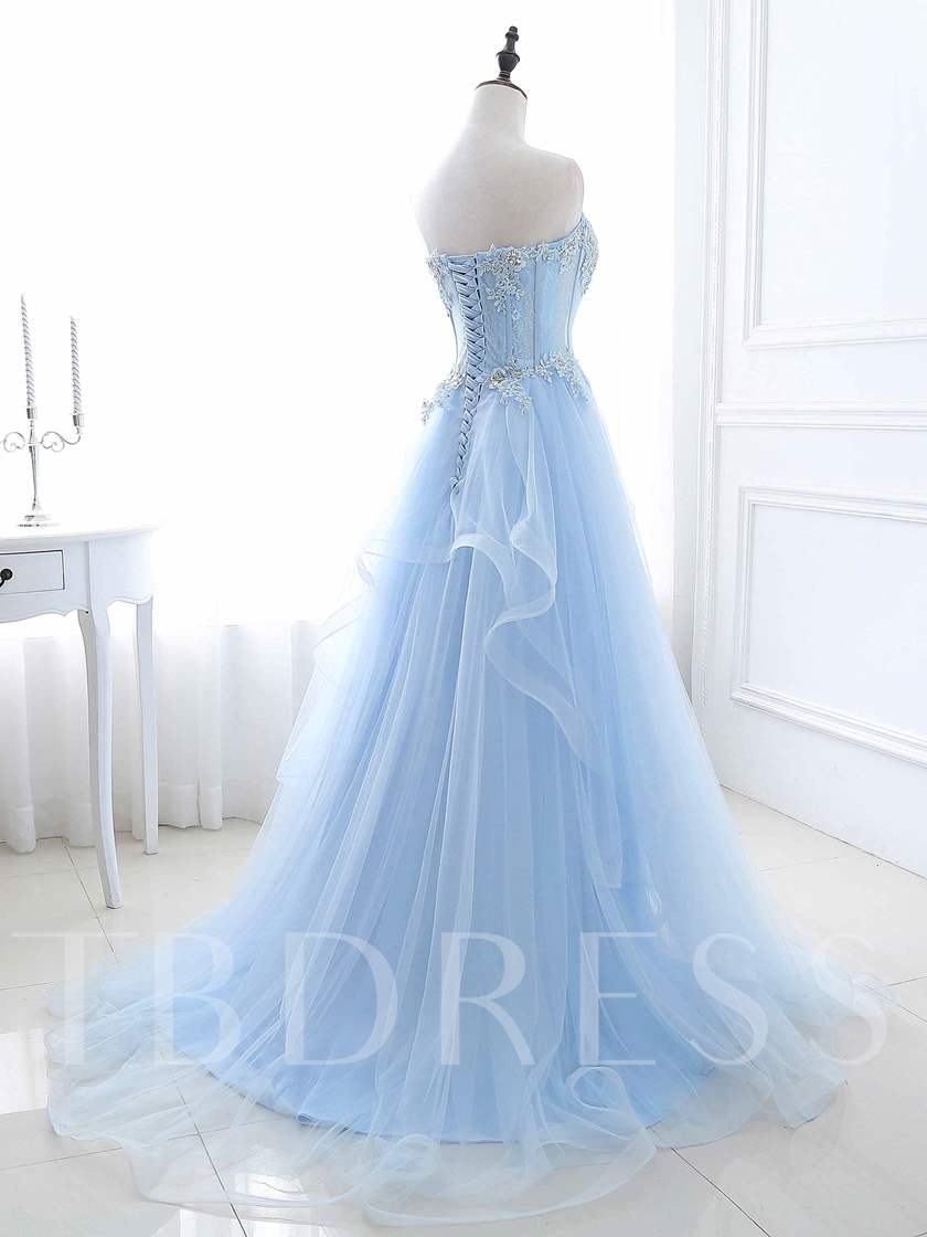 Sequins A-Line Sweetheart Beaded Long Prom Dress