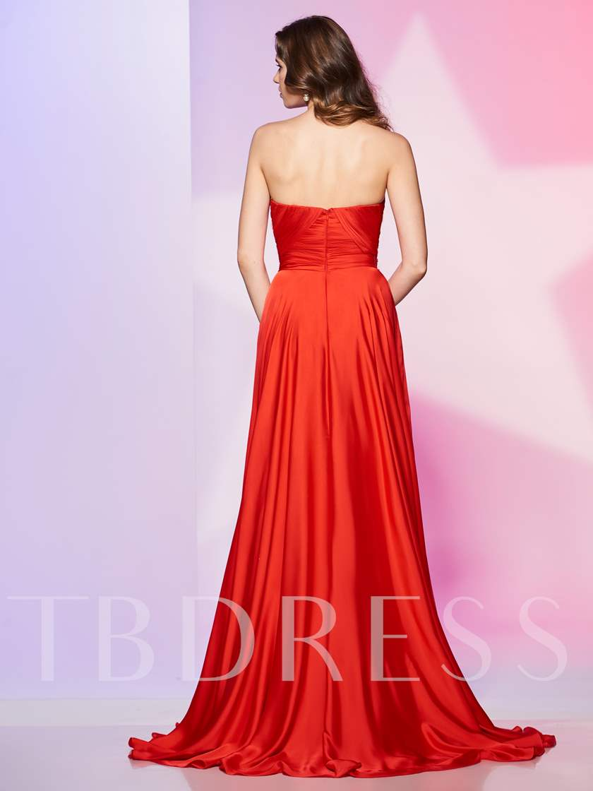 A-Line Pick-Ups Sweetheart Sequins Floor-Length Prom Dress