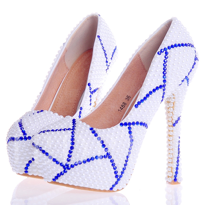 Buy Beads Ultra-High Heel Rhinestone Women's Wedding Shoes, Spring,Summer,Fall, 12724666 for $60.99 in TBDress store