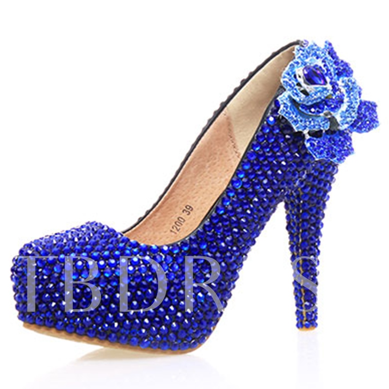 Buy Rhinestone Ultra-High Heel Appliques Women's Wedding Shoes, Spring,Summer,Fall, 12724743 for $64.99 in TBDress store