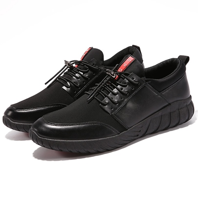 Patchwork Flat Heel Lace-Up Front Men's Shoes