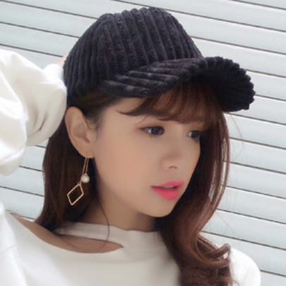 Stripe Design Polyester Cotton Baseball Hat