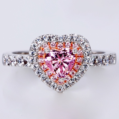 Heart-Shaped Imitation Diamond-Shaped Wedding Ring