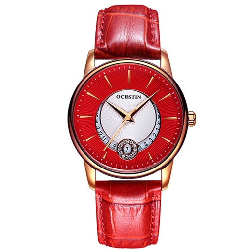 Red Surface Quartz Movement Women's Watch