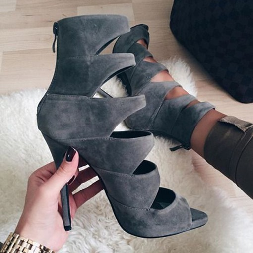Gray Cage Sandals