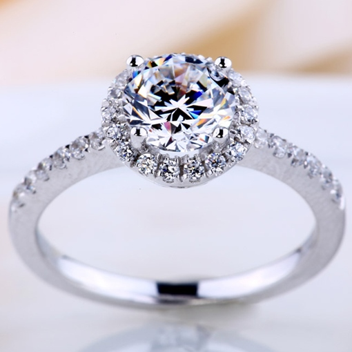 High Imitation Diamond-Shaped Wedding Ring