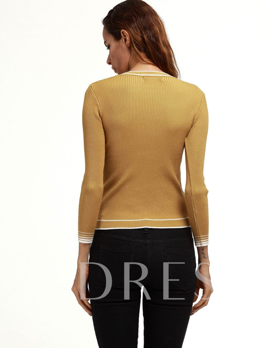 Casual Pullover Round Neck Women's Sweater