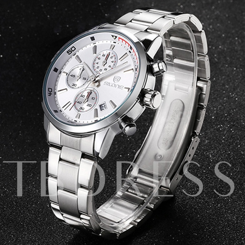 Quartz Movement Luminous Pointer Design Men's Watch