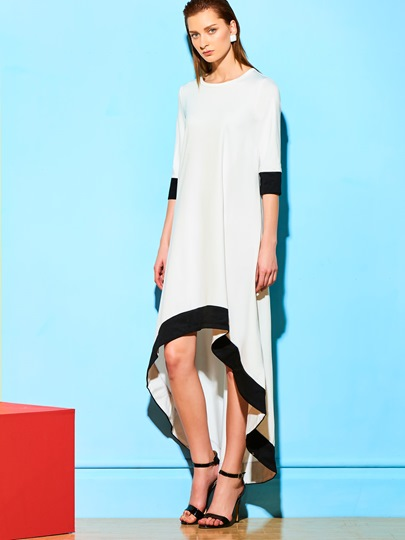 Asymmetrical Long Sleeve Women's Maxi Dress