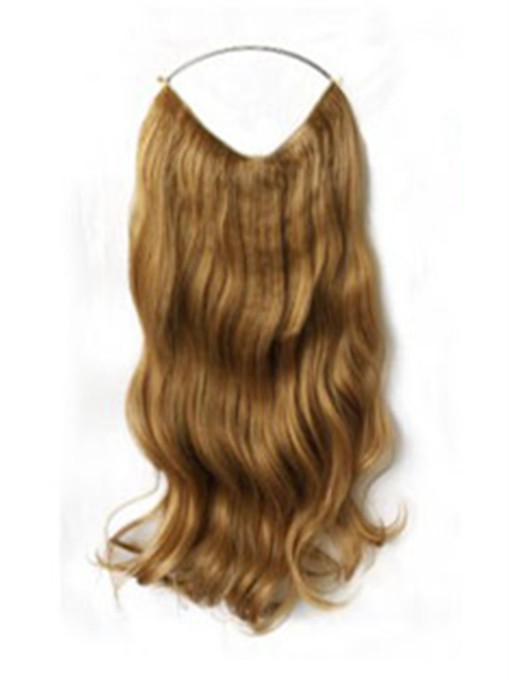 Long Wavy 100% Human Hair Flip In Hair Extension