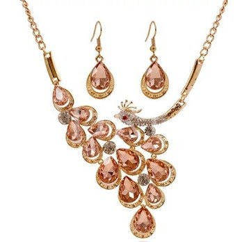 Champagne Peacock Two-Pieces Jewelry Set