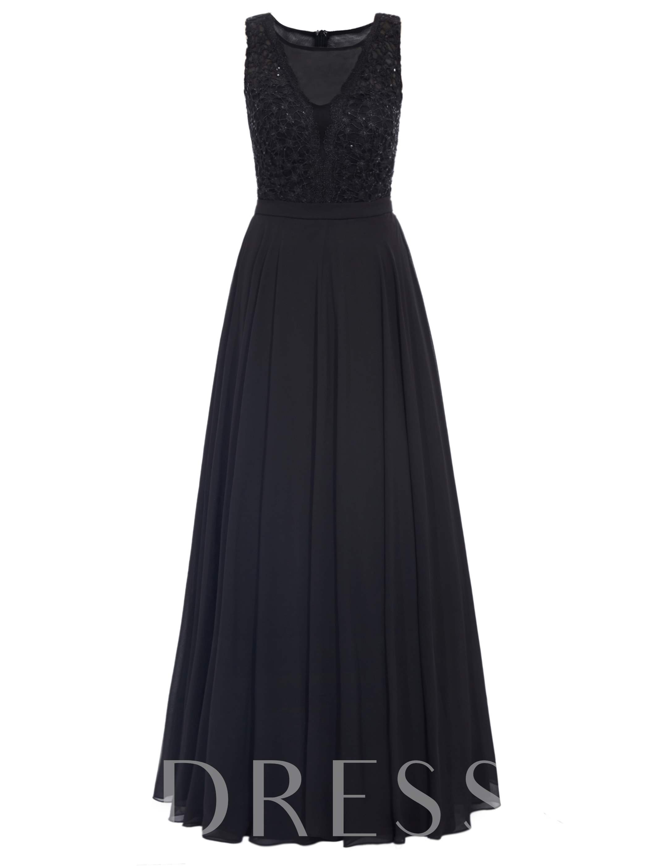 Buy Scoop A-Line Lace Ankle-Length Evening Dress, Tanpell, Spring,Summer,Fall,Winter, 12721756 for $30.86 in TBDress store