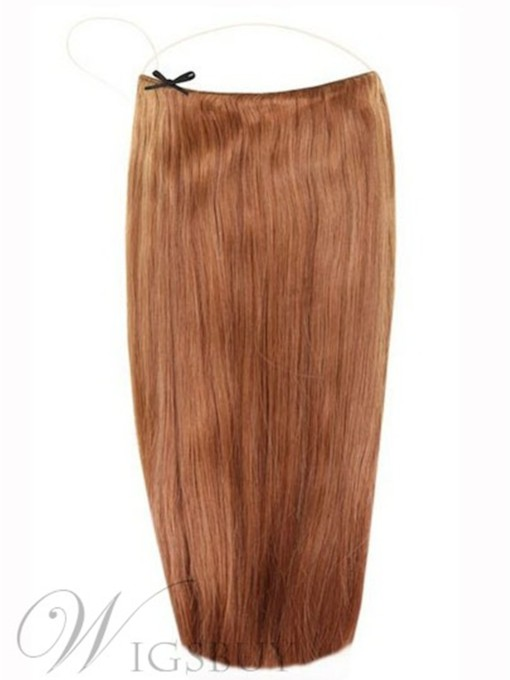 Light Chestnut Straight Human Hair Flip In Hair Extension