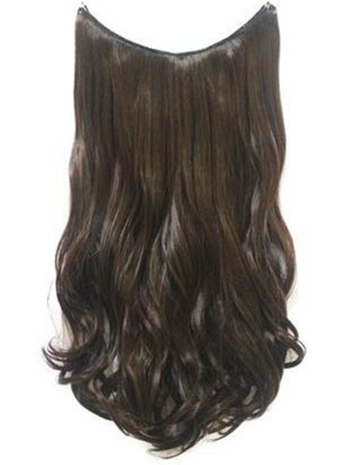 Medium Wavy Human Hair Flip In Hair Extensions #6