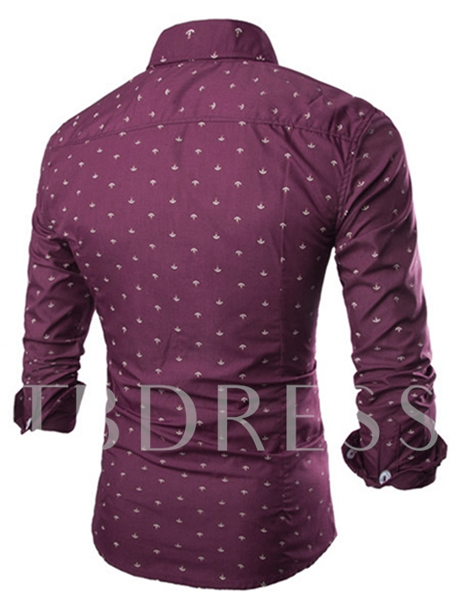 Print Long Sleeves Men's Shirt