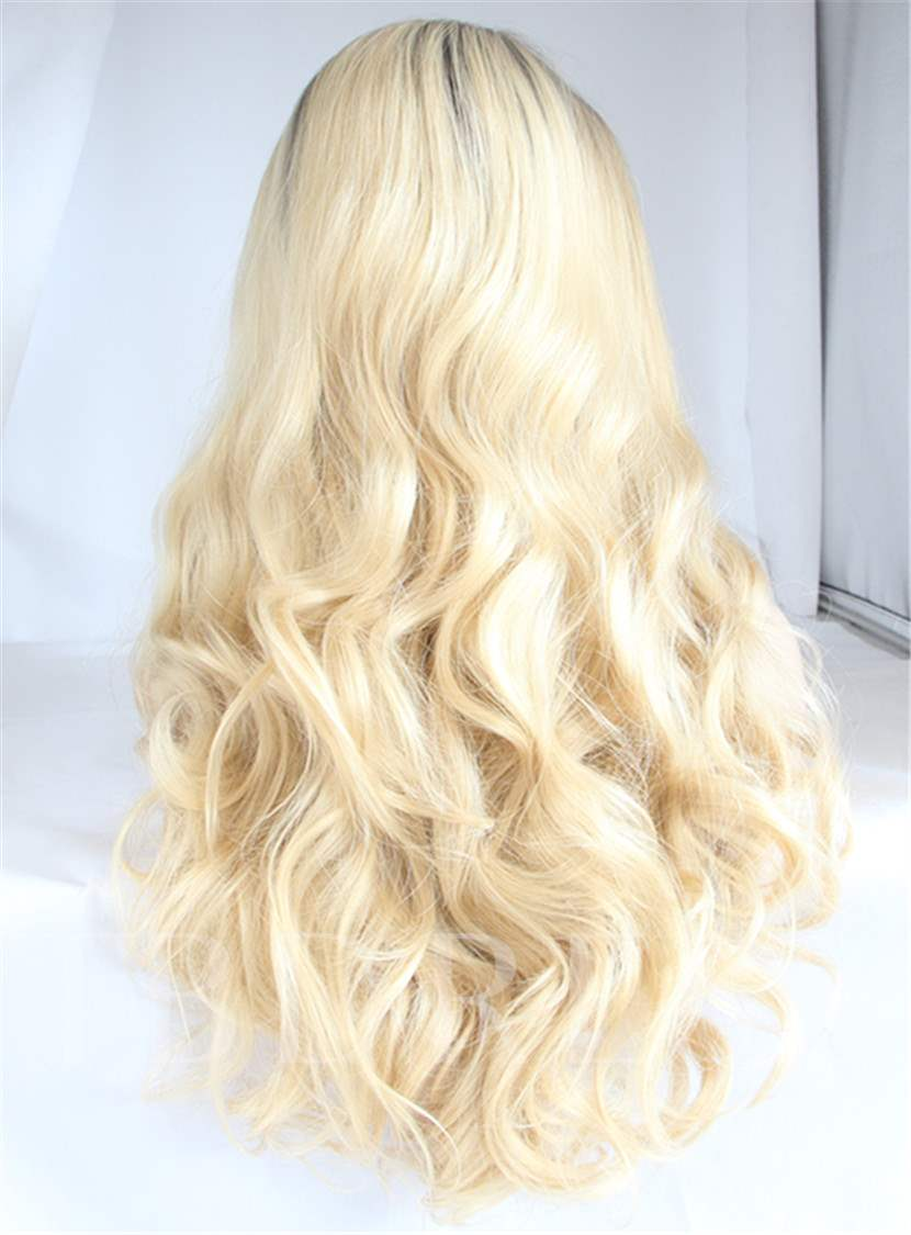 Long Natural Wavy Hairstyle Synthetic Hair Lace Front Wig 22 Inches