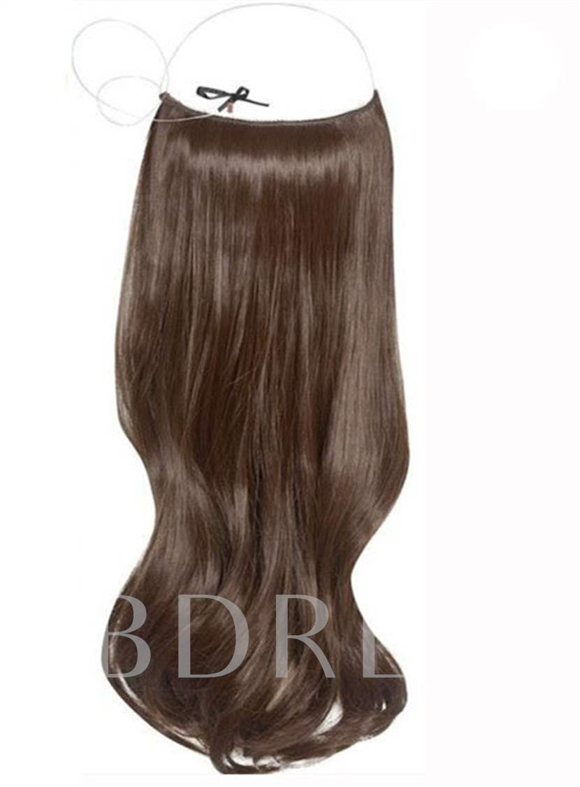 Long Wavy 100% Human Hair Flip In Hair Extensions