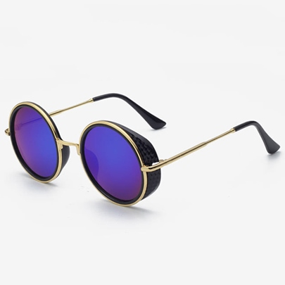 Round Frame Color Lens Women's Polarized Sunglasses