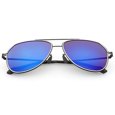 Stylish Plastic & Metal Frame Men's Polarized Sunglasses