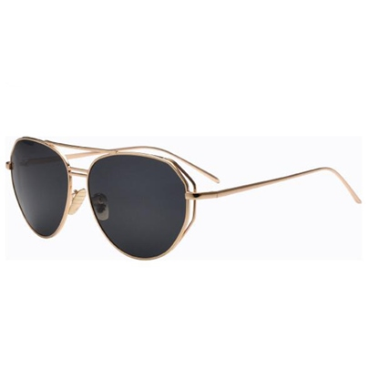 Color Film Metal Frame Reflective Sunglasses