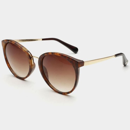 High Quality Metal Frame Matched Women's Sunglasses