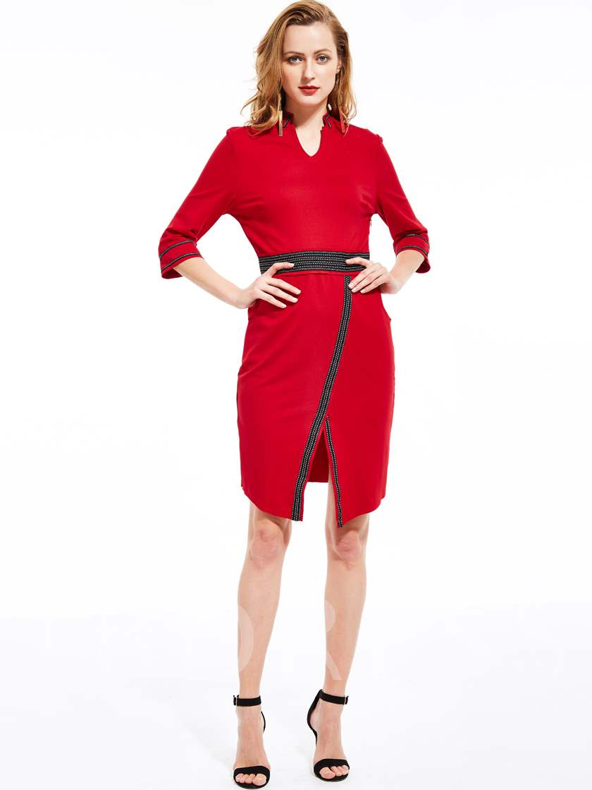 Red Half Sleeve Split Women s Bodycon Dress (Plus Size Available). Sold Out 1a49a38eb