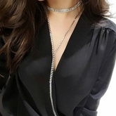 Full Drill Long Box Chain Alloy Vintage Torques Choker Necklace
